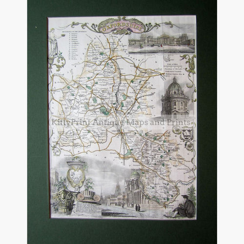 Oxfordshire By Thomas Moule 1840 Maps