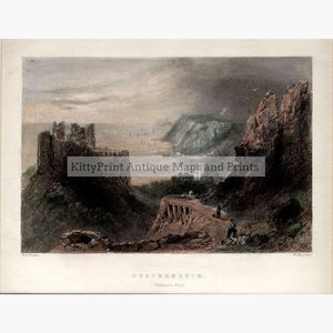 Oystermouth Swansea Bay 1841 Prints KittyPrint 1800s Seascapes Ports & Harbours Wales