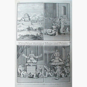 Pagod of Canon Xantai a Japanese Deity 1731 Prints KittyPrint 1700s China Japan & Korea Religion