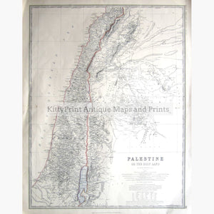 Palestine Or The Holy Land 1877 Kittyprint Maps