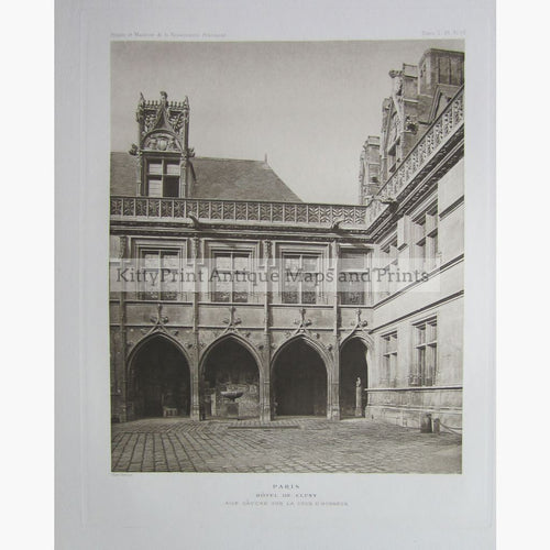 Paris Hotel De Cluny C.1910 Prints