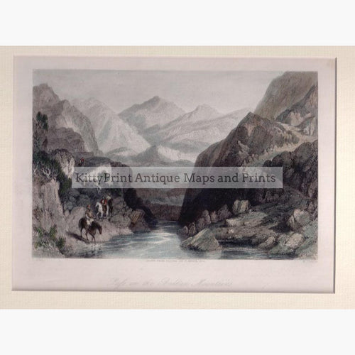 Pass in the Balkan Mountains 1840 Prints KittyPrint 1800s Eastern Europe Genre Scenes Landscapes