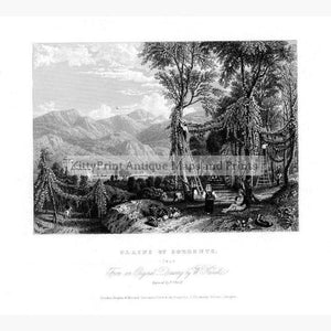 Plains of Sorrento c.1860 Prints KittyPrint 1800s Italy Landscapes