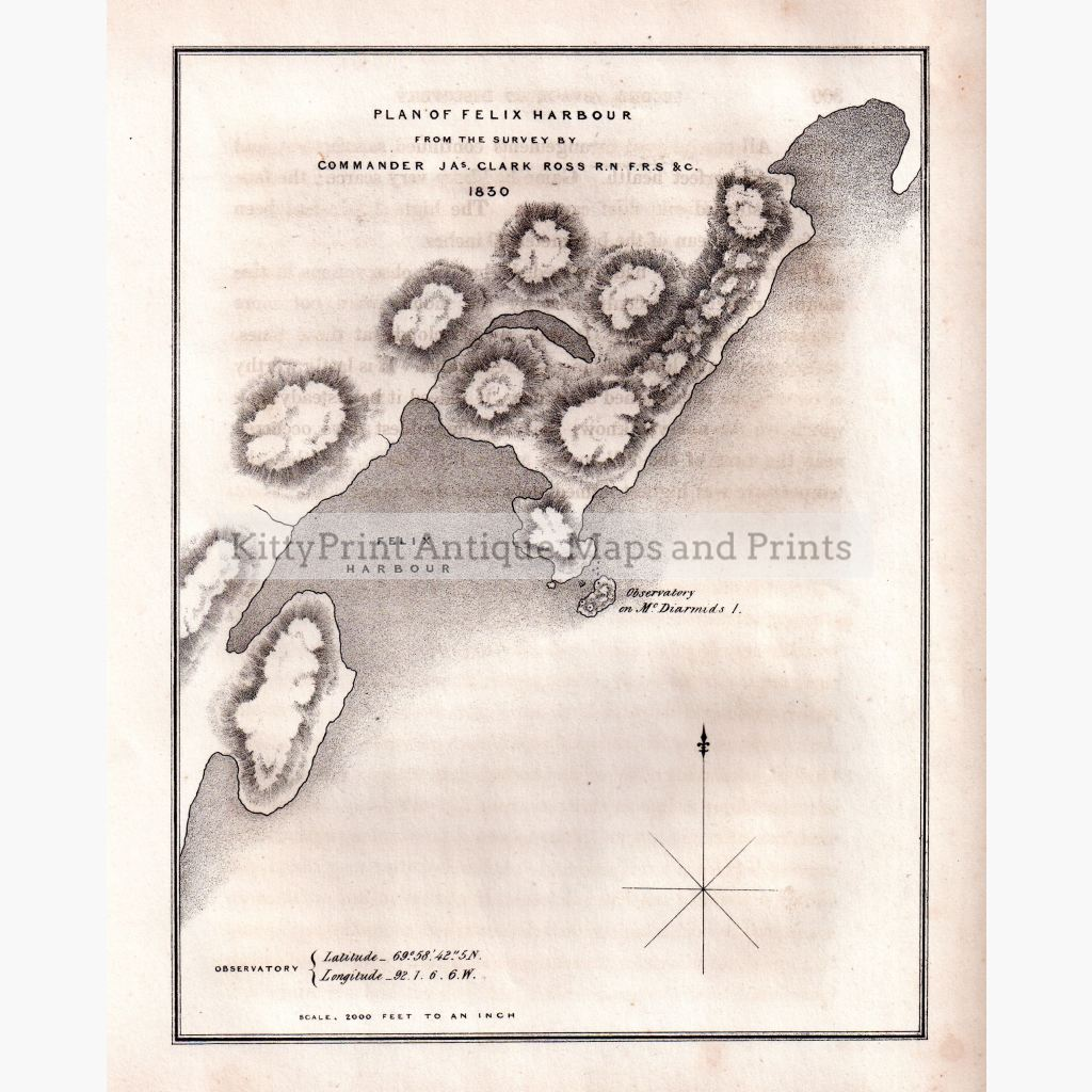 Plan Of Felix Harbour 1834 Maps