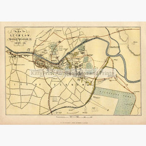 Plan of Lucknow 1860 Maps KittyPrint 1800s India & East Indies Military Town Plans