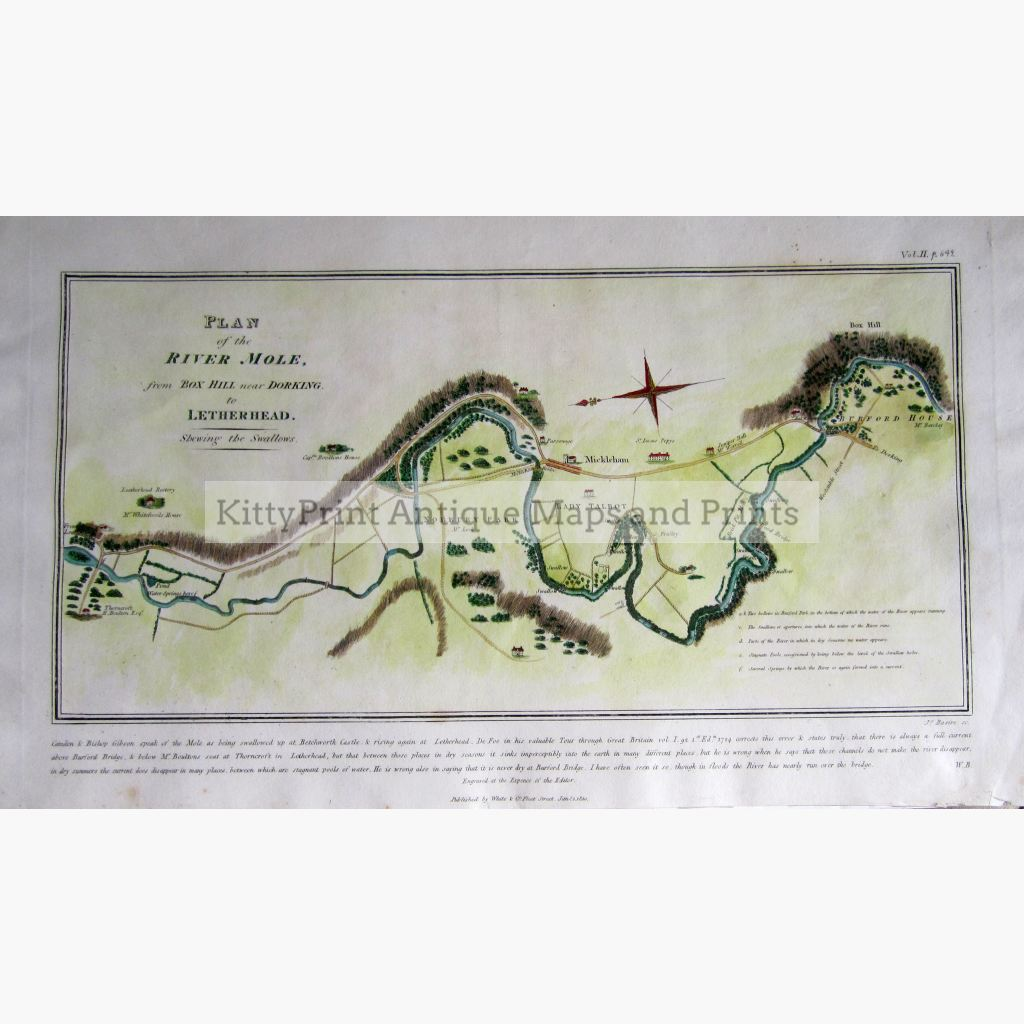 Plan Of The River Mole 1810 Maps