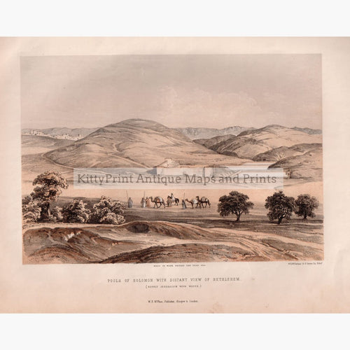 Pools Of Solomon With Distant View Bethlehem C.1840 Kittyprint Prints