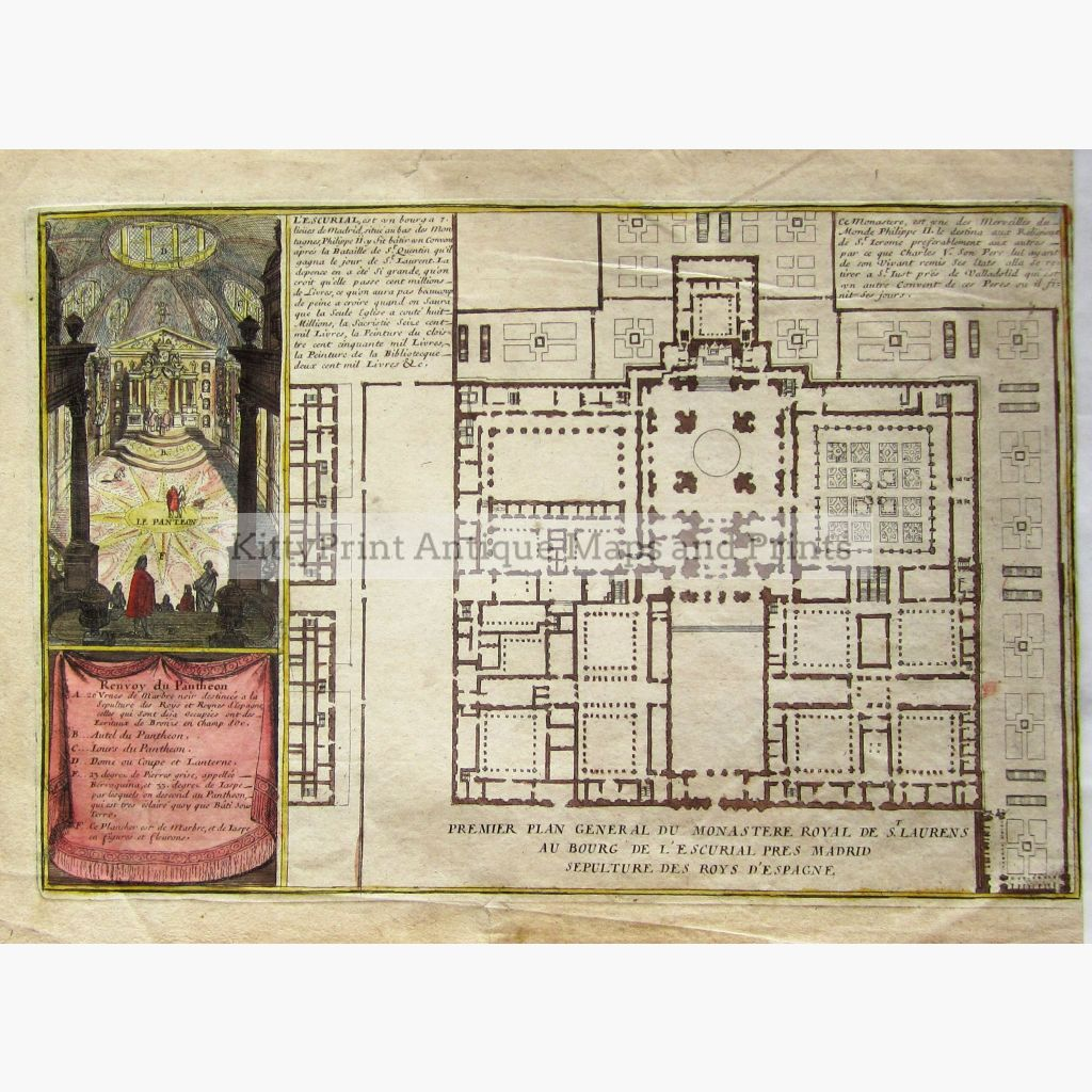 Premiere Plan General Du Monastere Royal De St.laurens Au Bourg C.1780 Prints