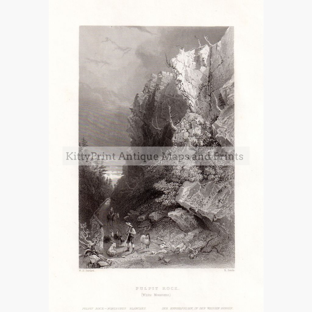 Pulpit Rock. ( White Mountain) 1839 Prints