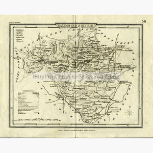 Radnorshire c.1840 Maps KittyPrint 1800s Wales
