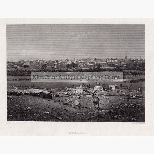 Ramleh c.1880 Prints KittyPrint 1800s Holy Land Townscapes