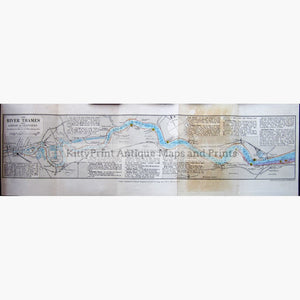 Reynolds's New Chart Of The Thames Estuary 1911 Londlondon To Gravesend Kittyprint