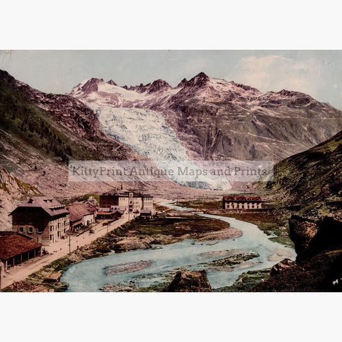Rhone Gletcher C.1900 Prints
