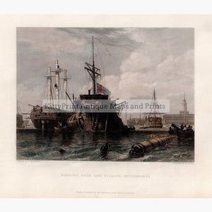 Rigging Hulk And Frigate Portsmouth 1842 Prints