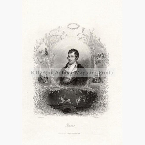 Robert Burns c.1850 Prints KittyPrint 1800s Portraits Royalty Nobility & Celebrity Scotland