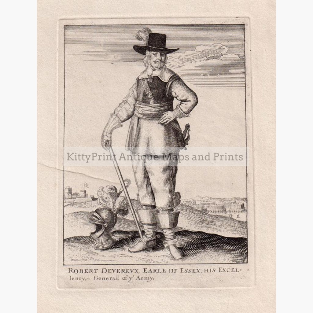 Robert Deverux Earle of Essex His Excellency General of ye Army c.1794 Prints KittyPrint 1700s Portraits Royalty Nobility & Celebrity