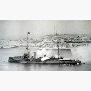 Royal Navy in Malta c.1905 Prints KittyPrint 1900s Maritime Military Seascapes Ports & Harbours