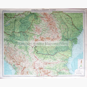 Rumania (Romania) 1922 Maps & Charts KittyPrint 1900s Eastern Europe