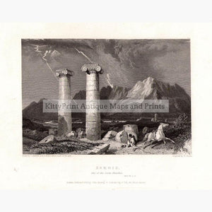 Sardis one of the Seven Churches 1835 Prints KittyPrint 1800s Castles & Historical Buildings Greece