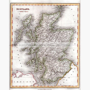 Scotland 1836 Maps KittyPrint 1800s Scotland