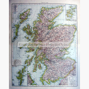 Scotland 1895 Maps KittyPrint 1800s Scotland