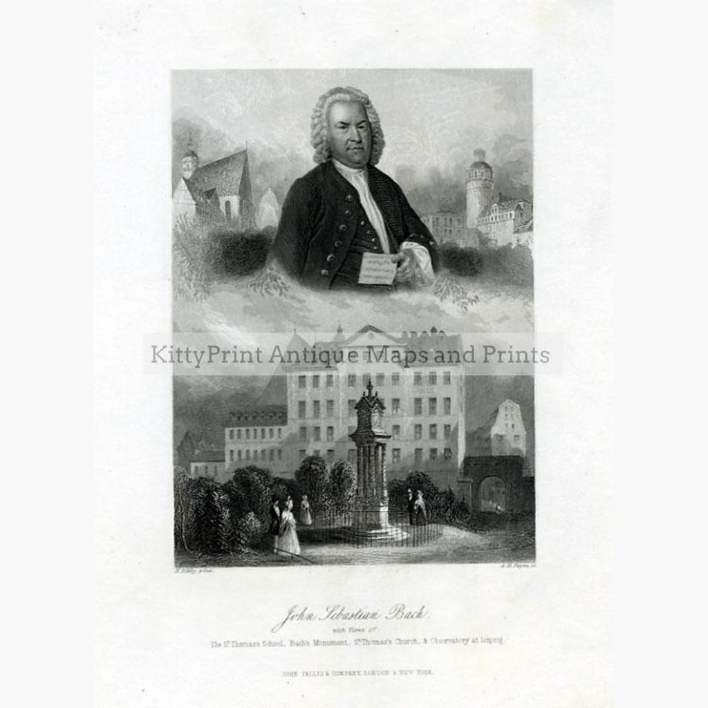 Sebastian Bach c.1840 Prints KittyPrint 1800s Royalty Nobility & Celebrity