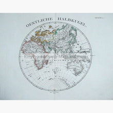 Set Of 2: Oestliche Halbkugel And Westliche 1870 Maps