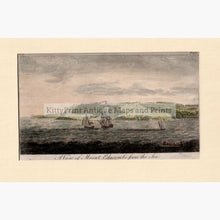 Set Of 2: Views Plymouth Fort And Mount Edgcumbe 1776 A View From The Sea Prints