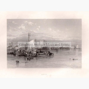 Set Of 3: Findens Ports And Harbours 1842 Hull East Riding Yorkshire Prints