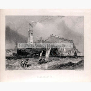 Set Of 3: Findens Ports And Harbours 1842 Scarborough North Yorkshire Prints
