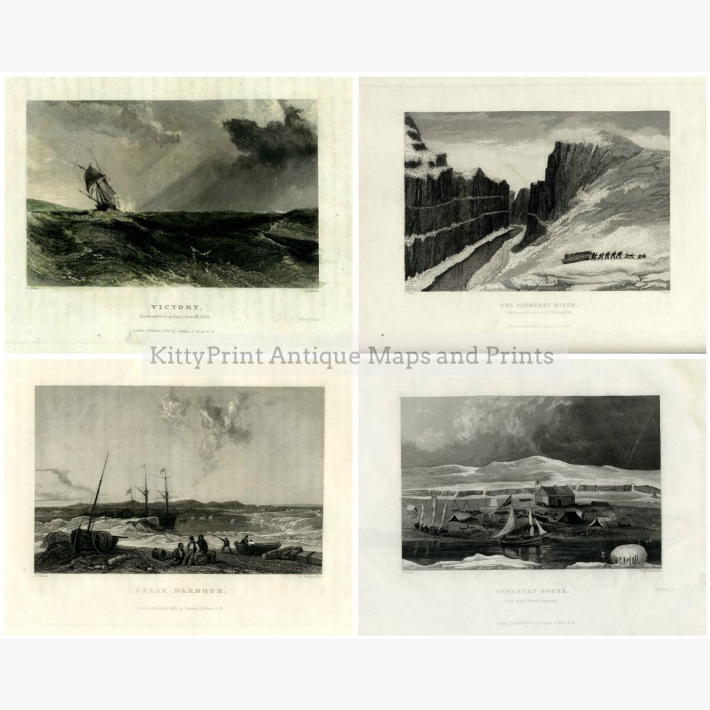 Set Of 4: Captain J Ross The Second Arctic Expedition 1834 4 Prints