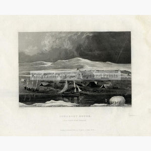Set Of 4: Captain J Ross The Second Arctic Expedition 1834 Somerset House Prints