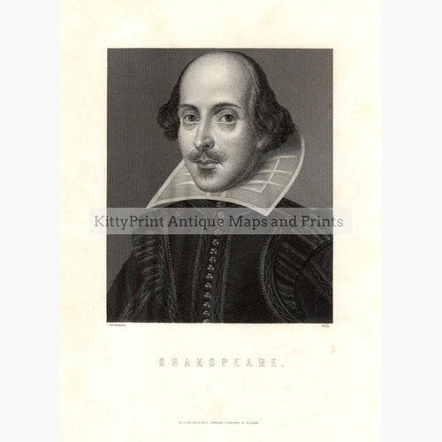 Shakspeare c.1850 Prints KittyPrint 1800s Royalty Nobility & Celebrity