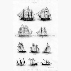 Shipping c.1850 Prints KittyPrint 1800s Maritime