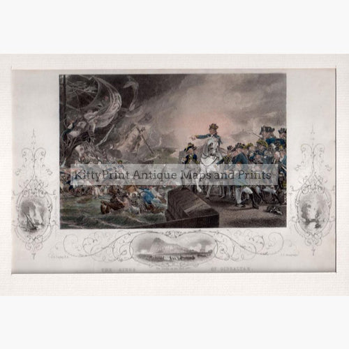 Siege of Gibraltar c.1850 Prints KittyPrint 1800s Africa Military