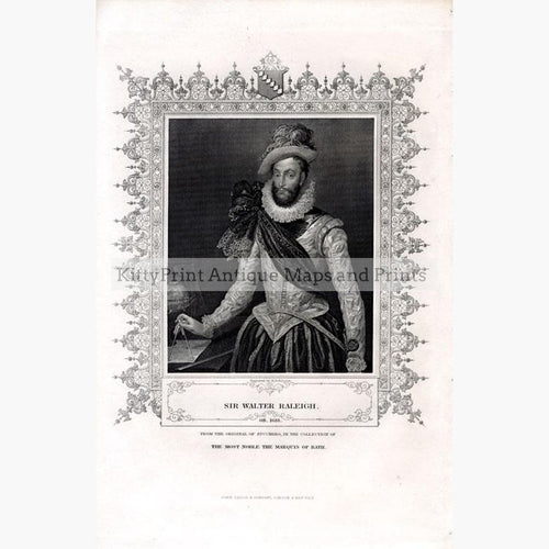 Sir Walter Raleigh c.1840 Prints KittyPrint 1800s Portraits Royalty Nobility & Celebrity