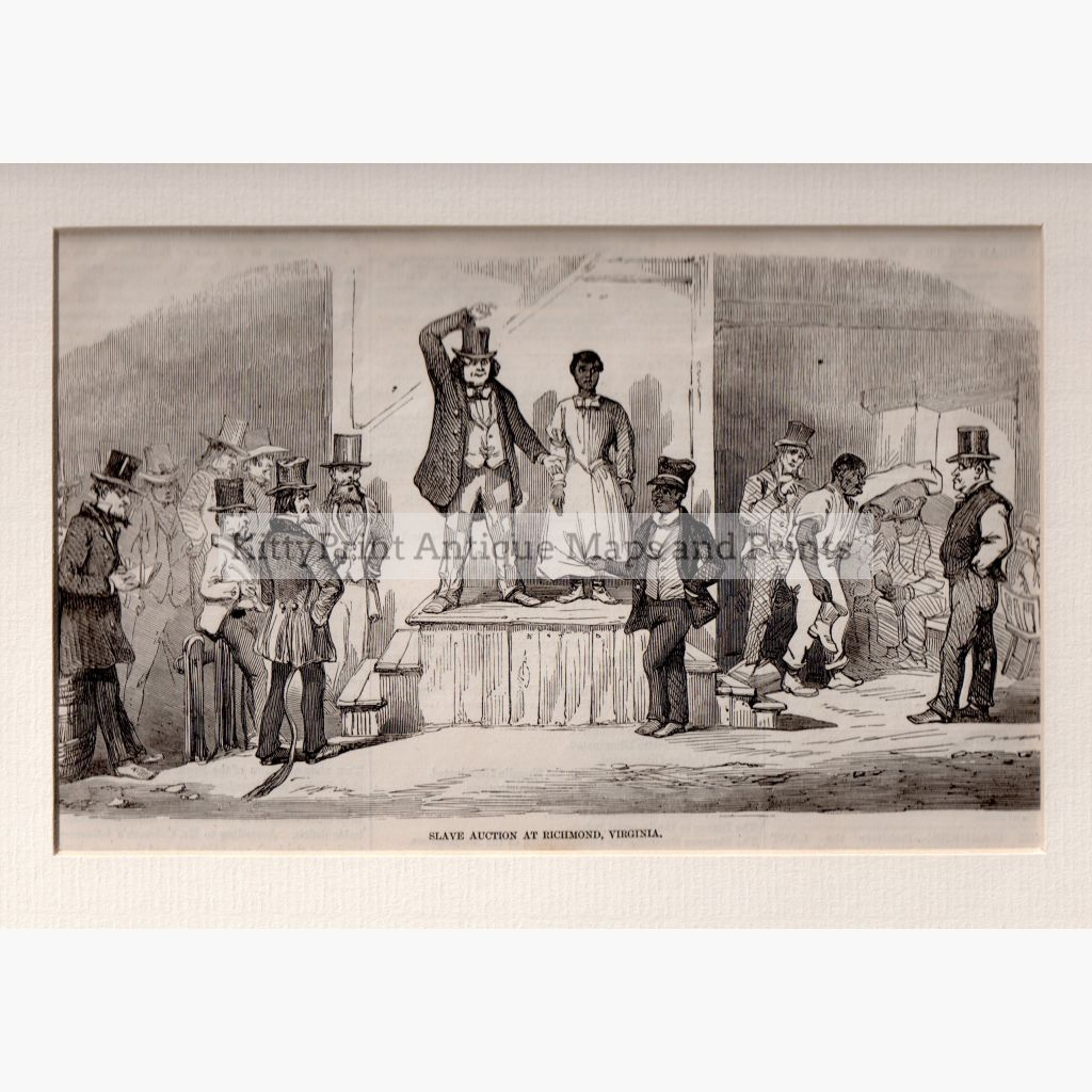 Slave Auction At Virginia 1856 Prints