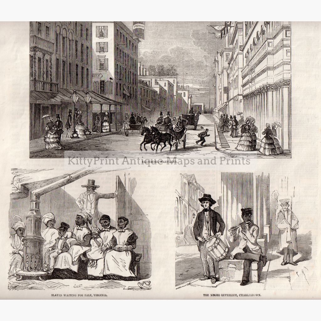 Slaves Waiting For Sale Virginia 1856 Prints