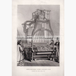 Smith Brothers Patent Jacquard Loom 1882 Prints