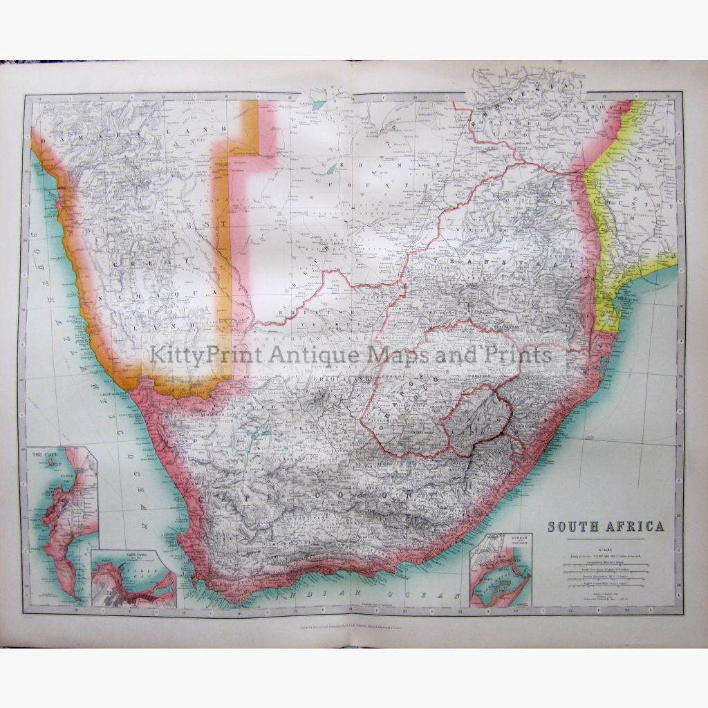 South Africa 1907 Maps