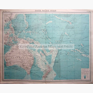 South Pacific Ocean 1922 Maps