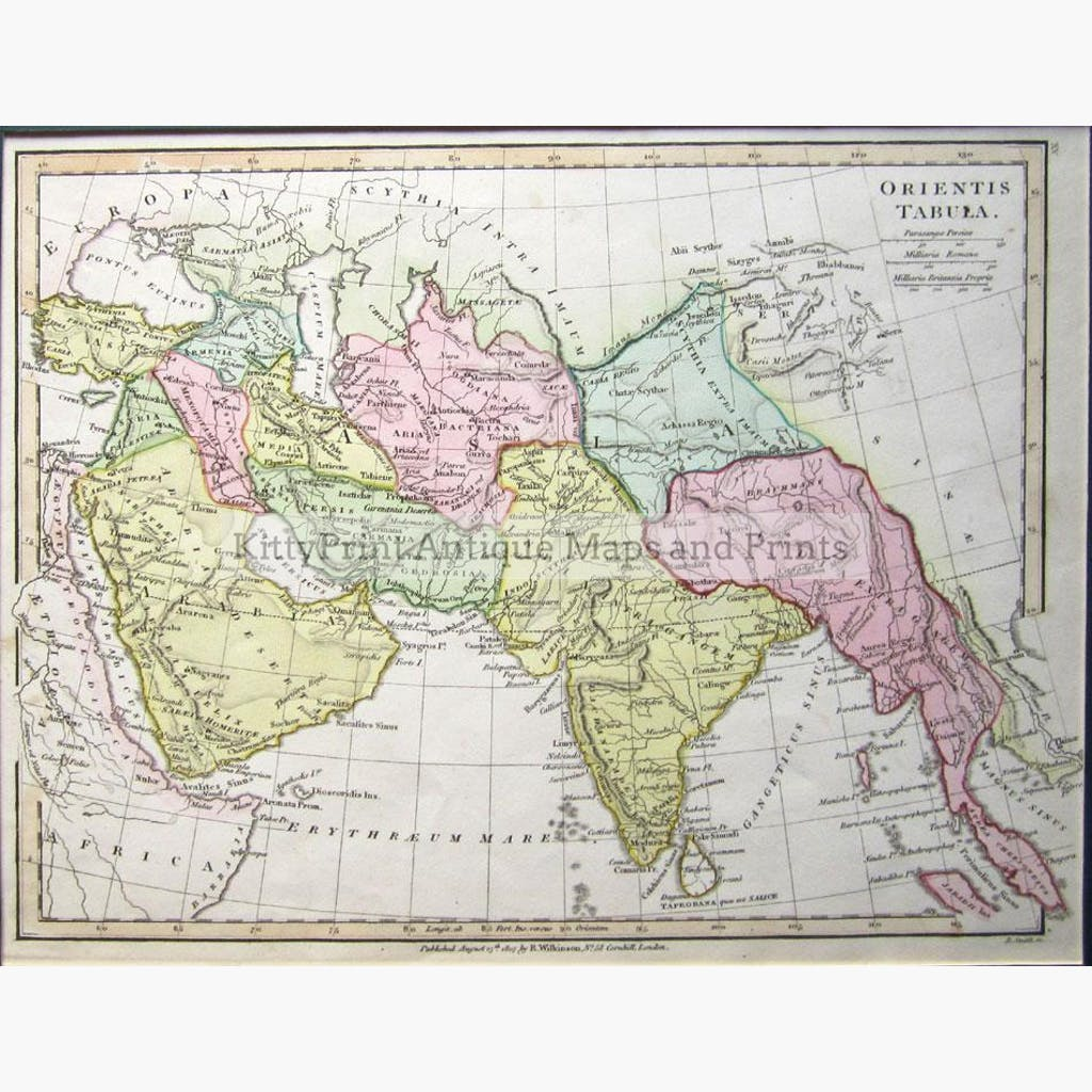South Asia and the Middle East Orientis Tabula 1807 Maps KittyPrint 1800s Asia Regional Maps India & South Asia Middle East Regional Maps