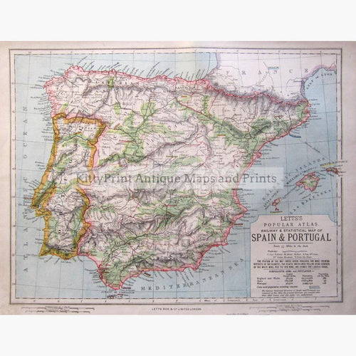 Spain Portugal Maps KittyPrint - Portugal map to print
