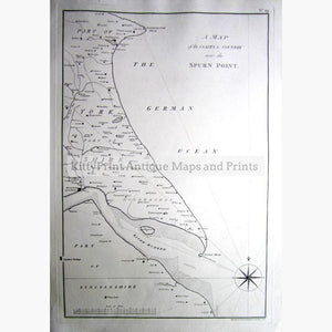 Spurn Point 1786 Maps KittyPrint 1700s England Sea Charts