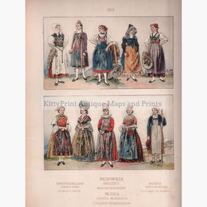 Swiss Folk Costume C.1910 Prints