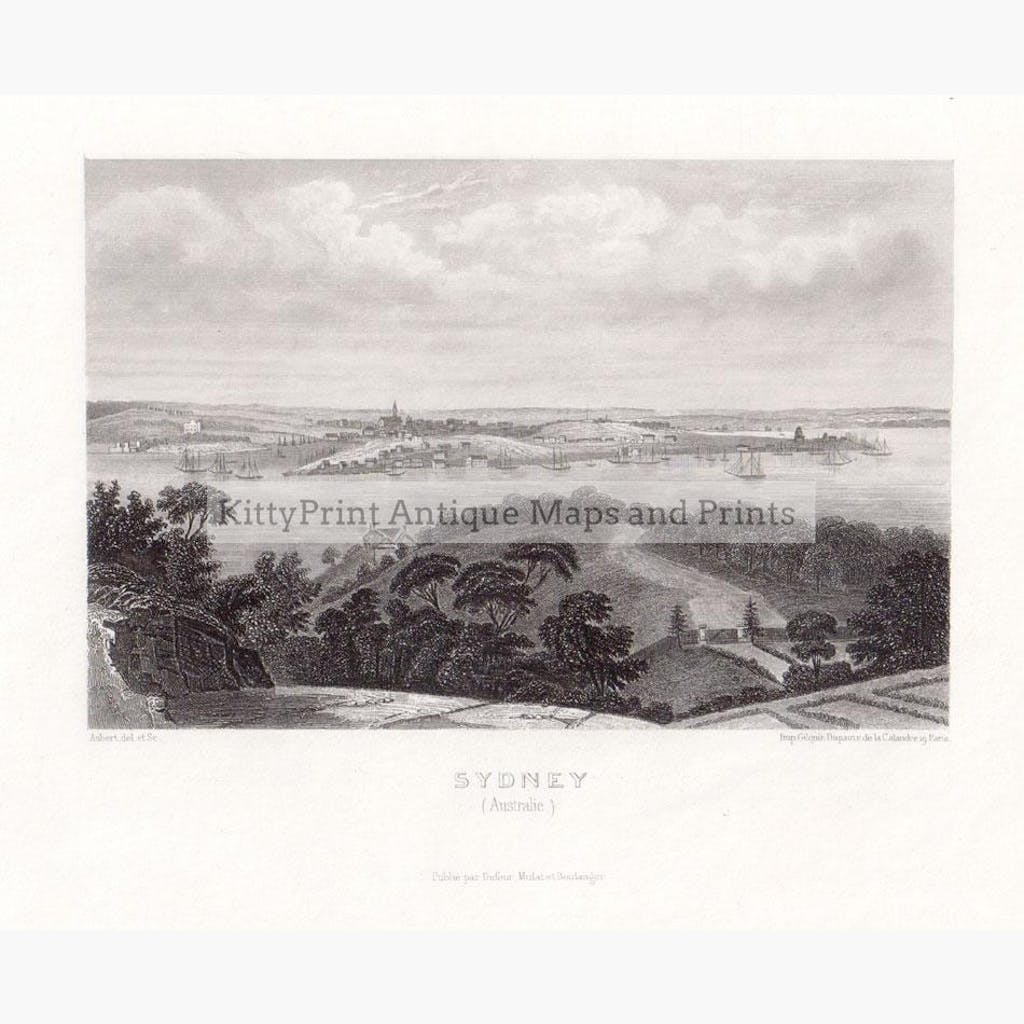 Sydney 1858 Prints KittyPrint 1800s Australia & Oceania Seascapes Ports & Harbours Townscapes
