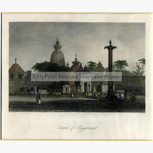 Temple of Juggernaut c.1850 Prints KittyPrint 1800s Castles & Historical Buildings India & East Indies