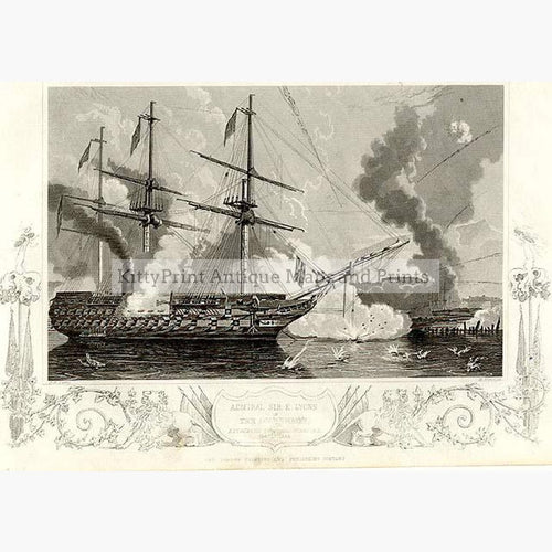 The Agamemnon c.1860 Prints KittyPrint 1800s Maritime Military Seascapes Ports & Harbours