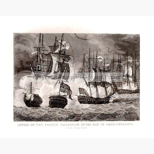 The Bay of Carrickfergus in 1760 p.1810 Prints KittyPrint 1700s Ireland Maritime Military Seascapes Ports & Harbours