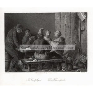 The Card players Die Kartenspieler c.1850 Prints KittyPrint 1800s Genre Scenes